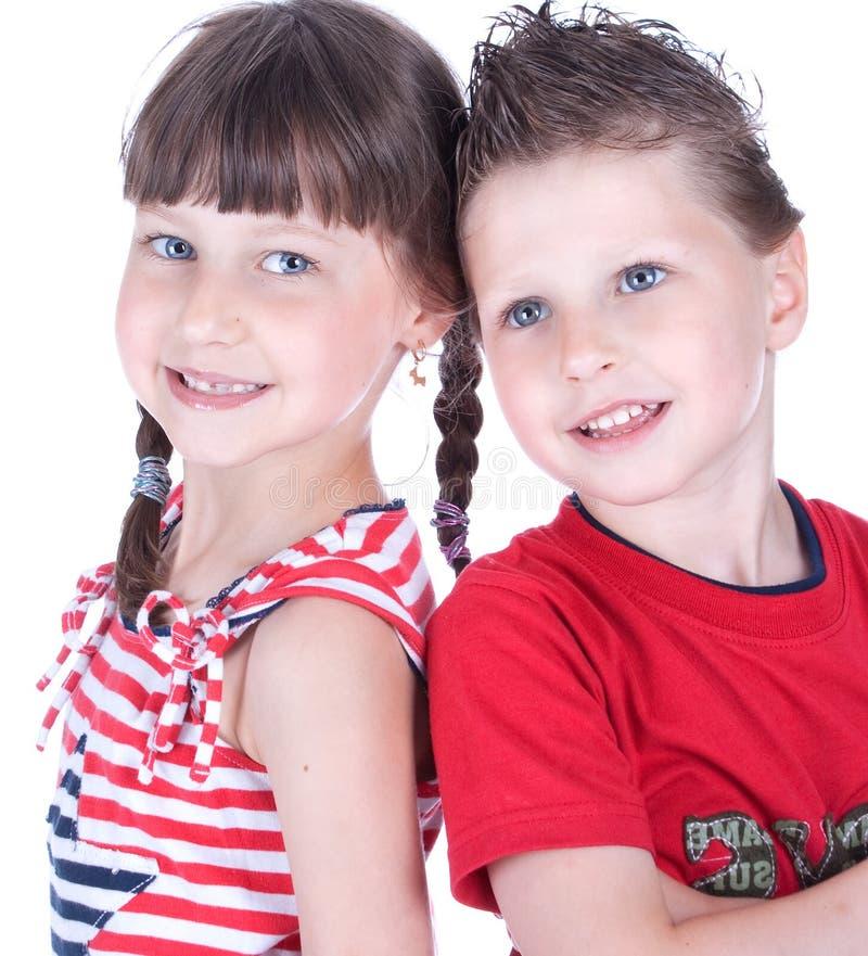 Χαριτωμένα μπλε-eyed παιδιά στοκ φωτογραφία με δικαίωμα ελεύθερης χρήσης