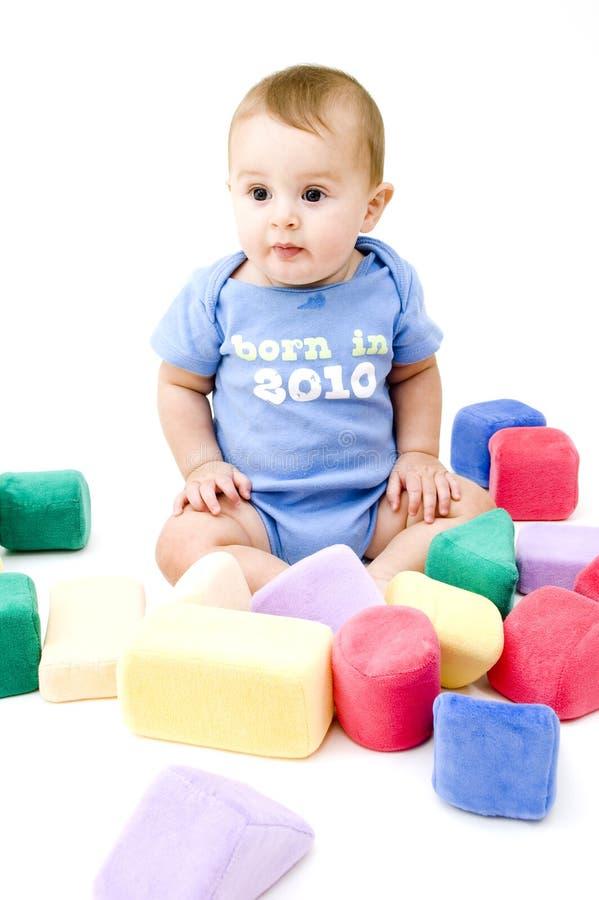 χαριτωμένα παιχνίδια μωρών στοκ εικόνα