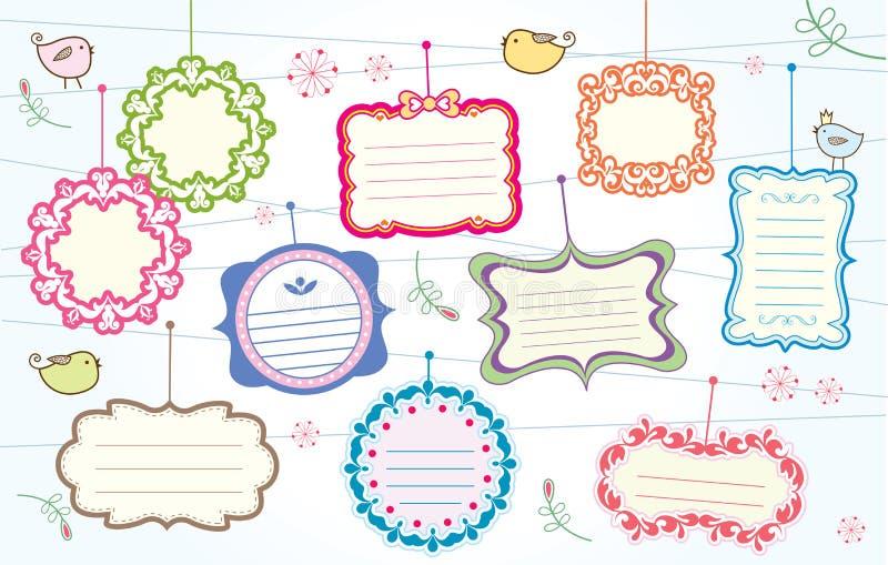 χαριτωμένα πλαίσια συλλ&omic απεικόνιση αποθεμάτων