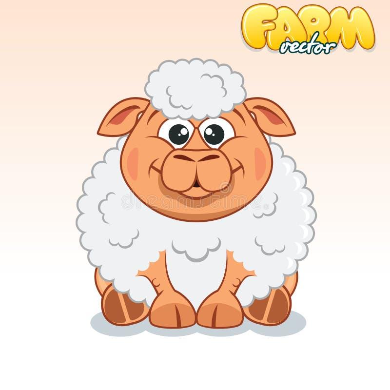 χαριτωμένα πρόβατα κινούμε&n διανυσματική απεικόνιση