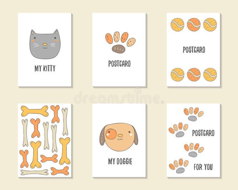 Χαριτωμένα συρμένα χέρι doodle γενέθλια, κόμμα, κάρτες ντους μωρών διανυσματική απεικόνιση
