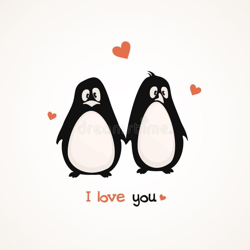Χαριτωμένα penguins ελεύθερη απεικόνιση δικαιώματος