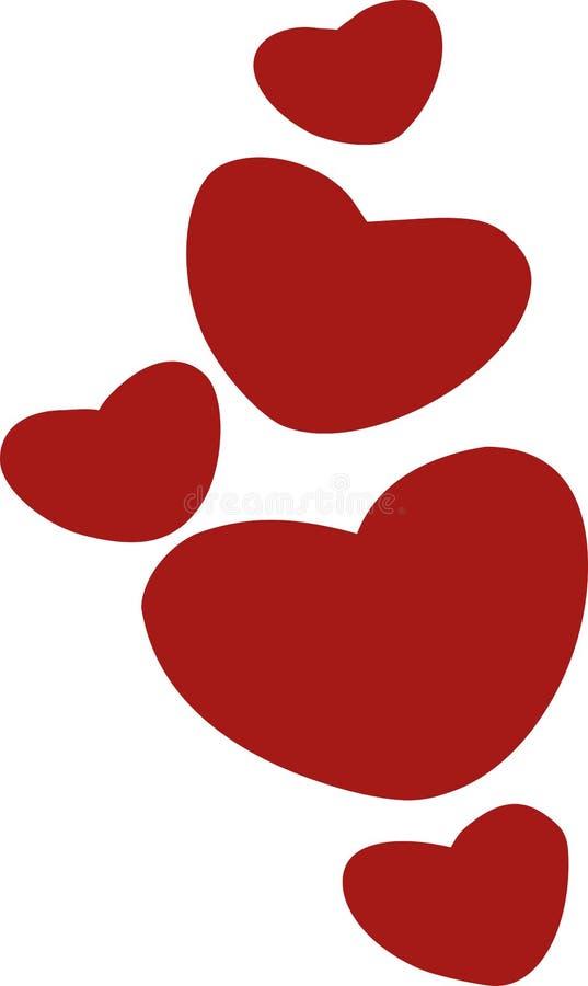 Χαριτωμένες καρδιές για τα παιδιά διανυσματική απεικόνιση