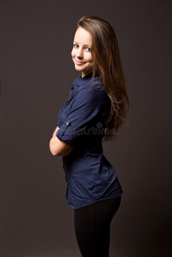 χαριτωμένες νεολαίες brunette στοκ φωτογραφίες