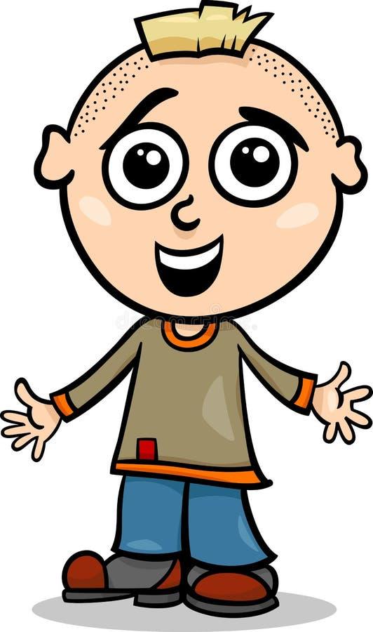 Χαριτωμένη απεικόνιση κινούμενων σχεδίων μικρών παιδιών διανυσματική απεικόνιση