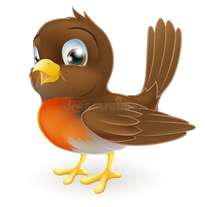 χαριτωμένη απεικόνιση Robin κινούμενων σχεδίων διανυσματική απεικόνιση