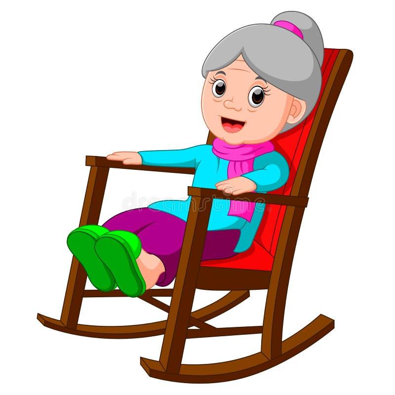 Χαριτωμένη αστεία γιαγιά ελεύθερη απεικόνιση δικαιώματος