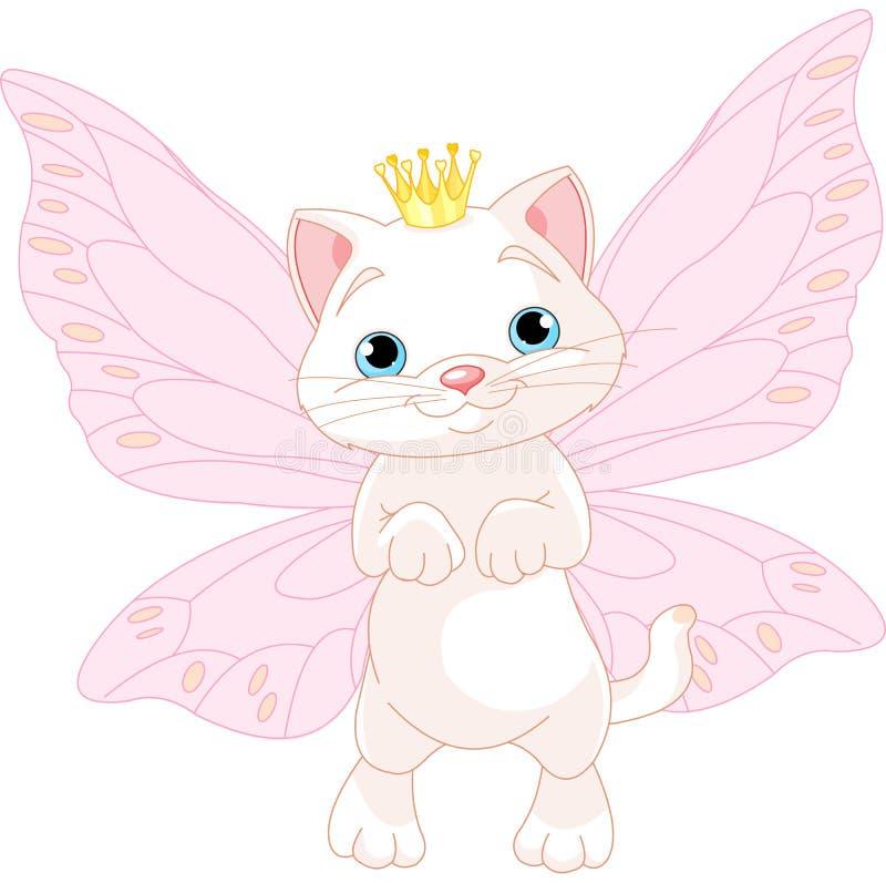 Χαριτωμένη γάτα νεράιδων διανυσματική απεικόνιση