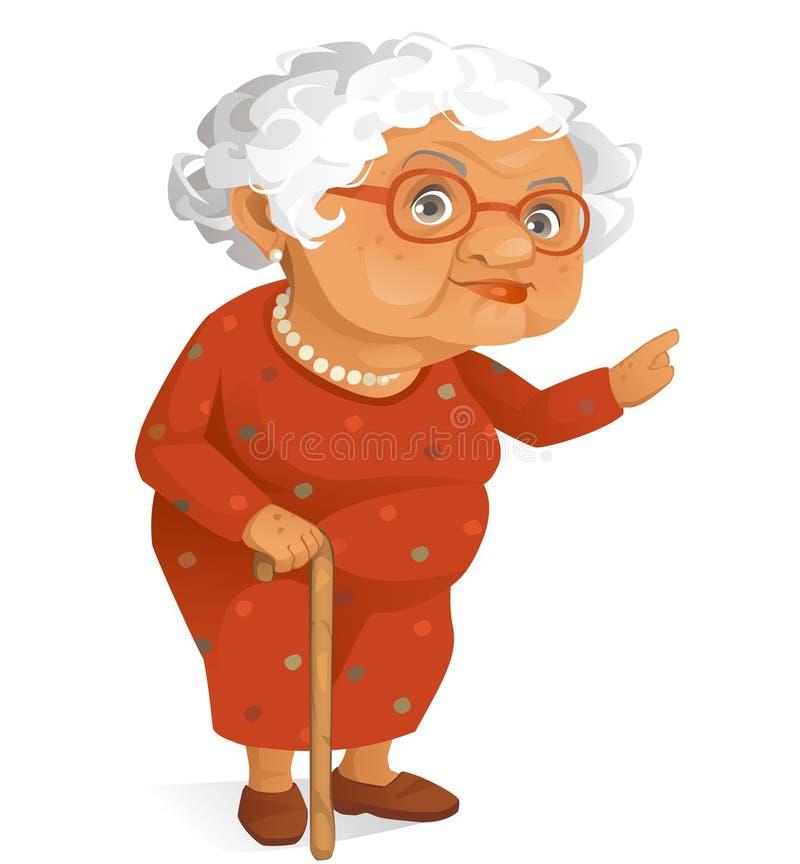 Χαριτωμένη γιαγιά ελεύθερη απεικόνιση δικαιώματος