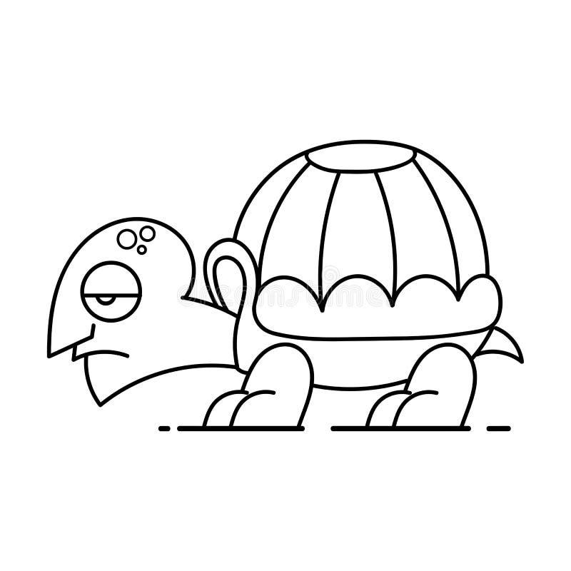 Χαριτωμένη διανυσματική απεικόνιση χελωνών κινούμενων σχεδίων στο άσπρο υπόβαθρο Πρότυπο αφισών διανυσματική απεικόνιση