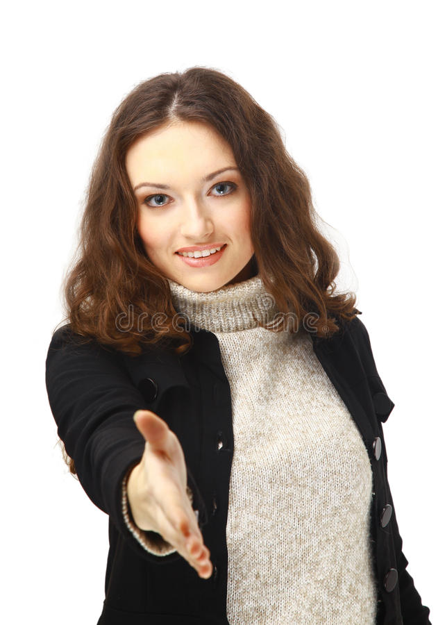 χαριτωμένη θηλυκή χειραψί&alp στοκ εικόνα