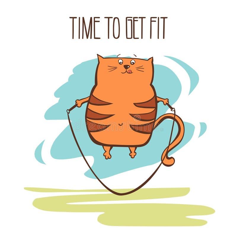 Χαριτωμένη κάρτα γατών ικανότητας απεικόνιση αποθεμάτων