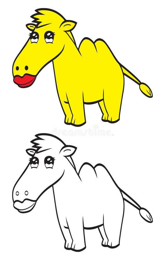 Χαριτωμένη καμήλα κινούμενων σχεδίων ελεύθερη απεικόνιση δικαιώματος