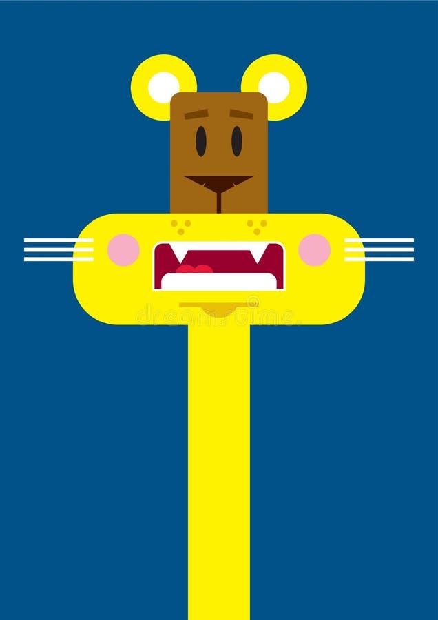 Χαριτωμένη λιονταρίνα κινούμενων σχεδίων ελεύθερη απεικόνιση δικαιώματος