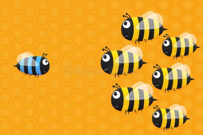 Χαριτωμένη μπλε μέλισσα ελεύθερη απεικόνιση δικαιώματος