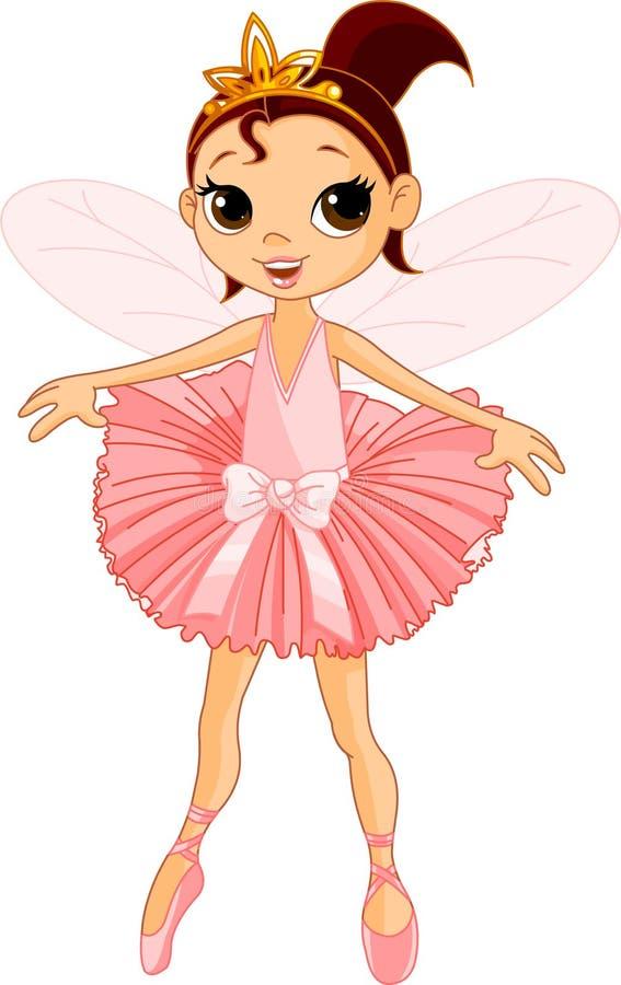 χαριτωμένη νεράιδα ballerina απεικόνιση αποθεμάτων