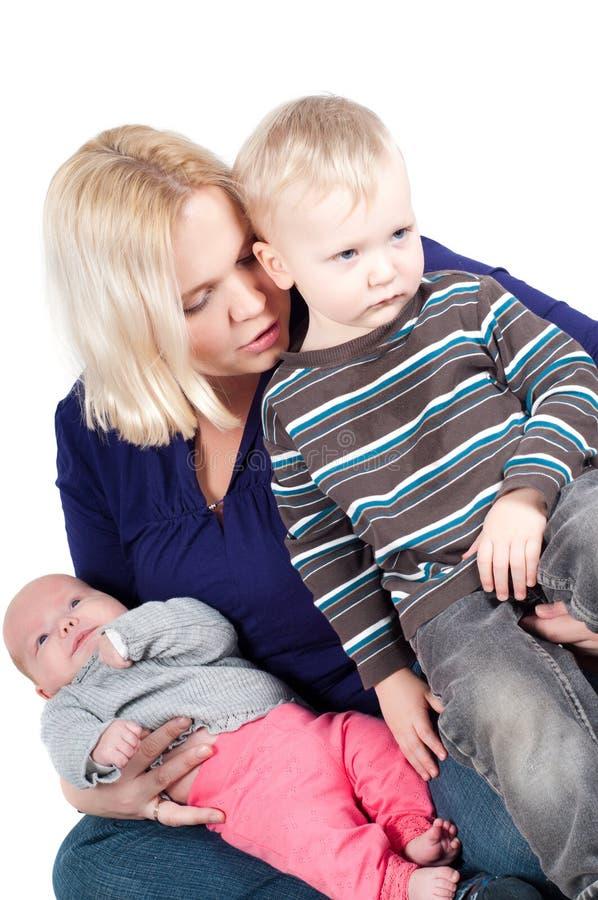 χαριτωμένη οικογένεια στοκ φωτογραφία