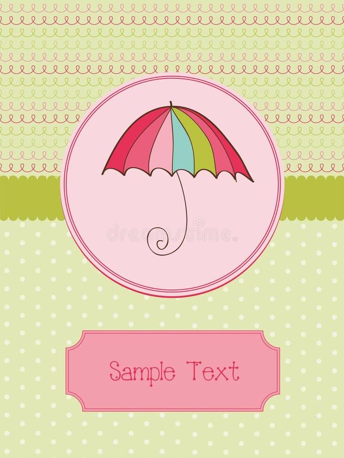χαριτωμένη ομπρέλα καρτών φ&theta ελεύθερη απεικόνιση δικαιώματος