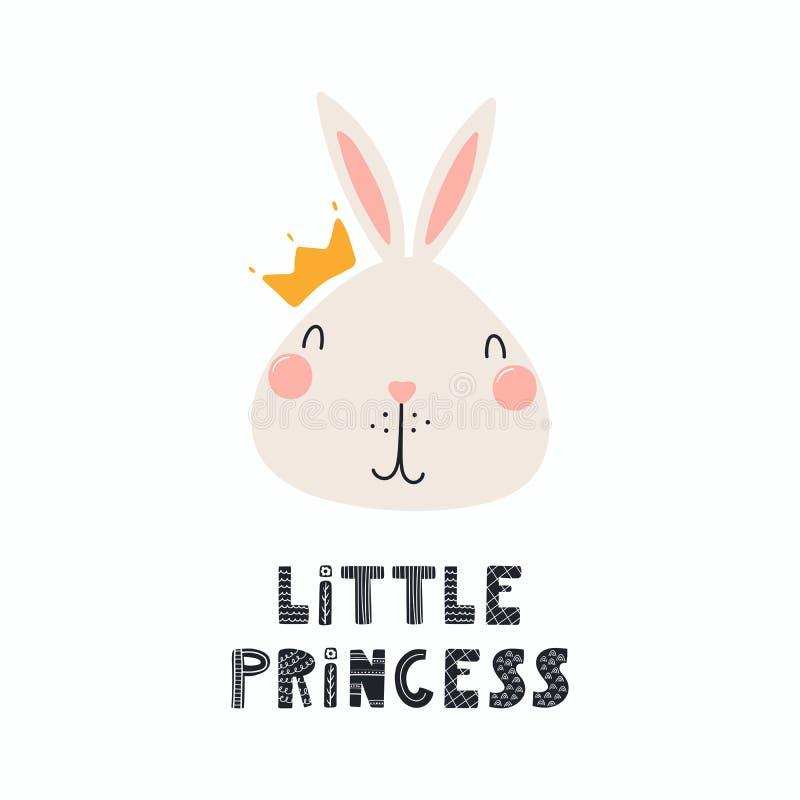Χαριτωμένη πριγκήπισσα λαγουδάκι διανυσματική απεικόνιση