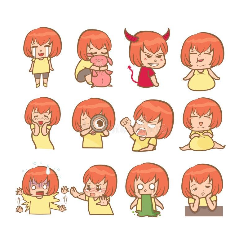 Χαριτωμένη δράση κοριτσιών στοκ εικόνες