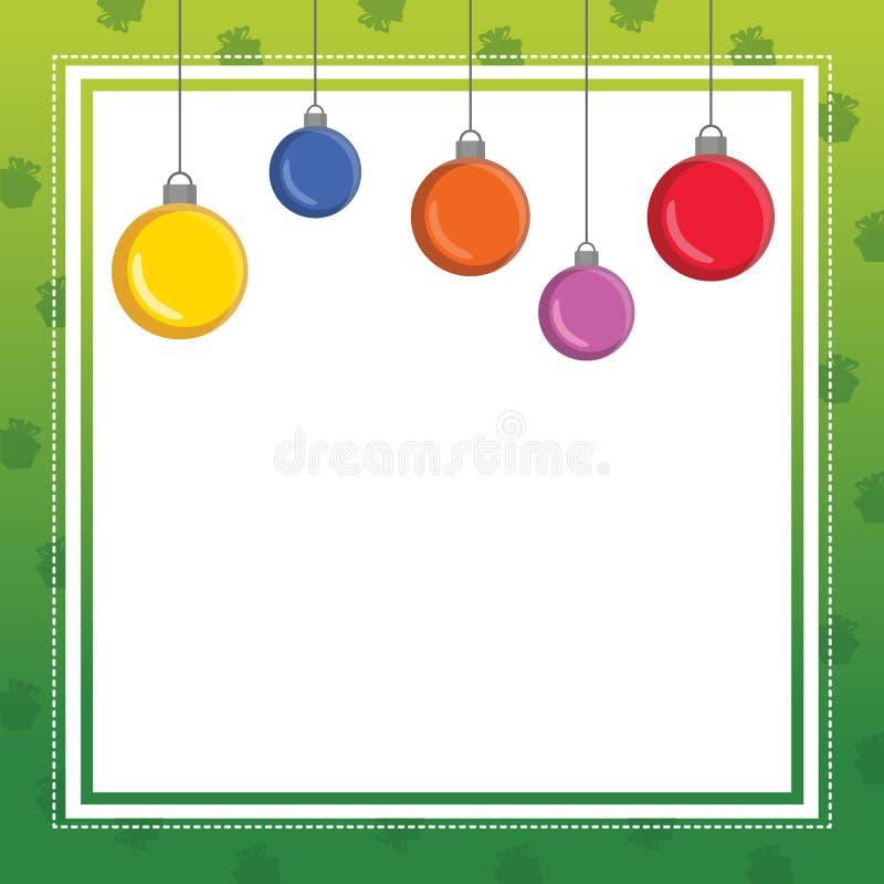 Χαριτωμένη συλλογή σχεδίου πλαισίων Χριστουγέννων ελεύθερη απεικόνιση δικαιώματος