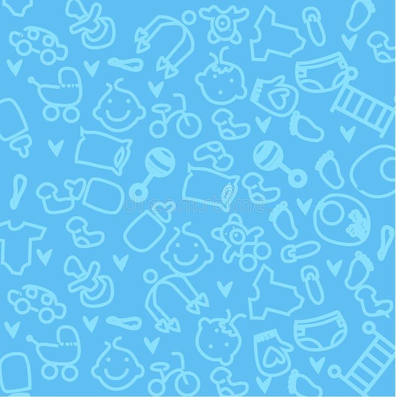χαριτωμένη ταπετσαρία μωρών ελεύθερη απεικόνιση δικαιώματος