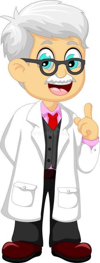 Χαριτωμένη υπόδειξη κινούμενων σχεδίων γιατρών διανυσματική απεικόνιση