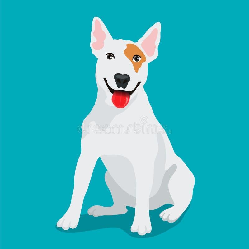 Χαριτωμένη φυλή Bullterrier σκυλιών απεικόνιση αποθεμάτων