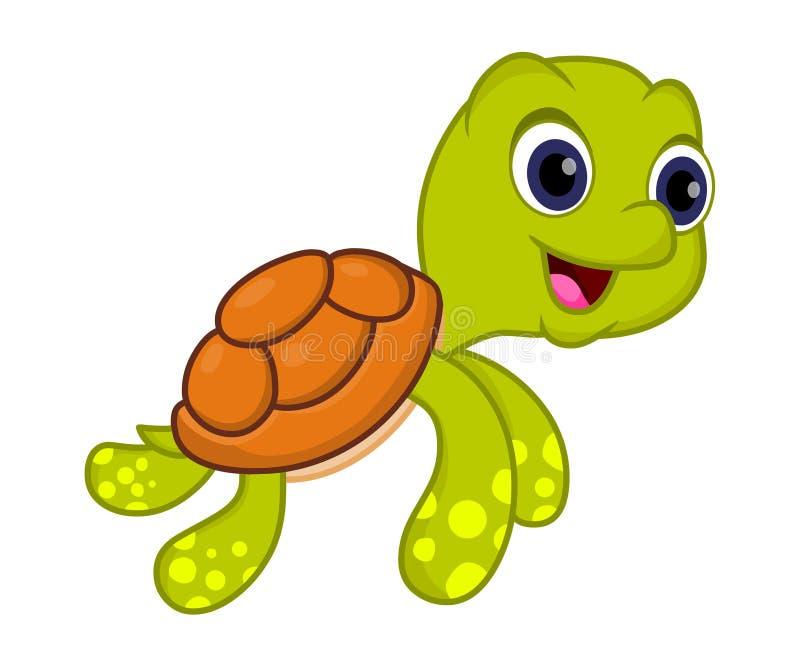 χαριτωμένη χελώνα ελεύθερη απεικόνιση δικαιώματος