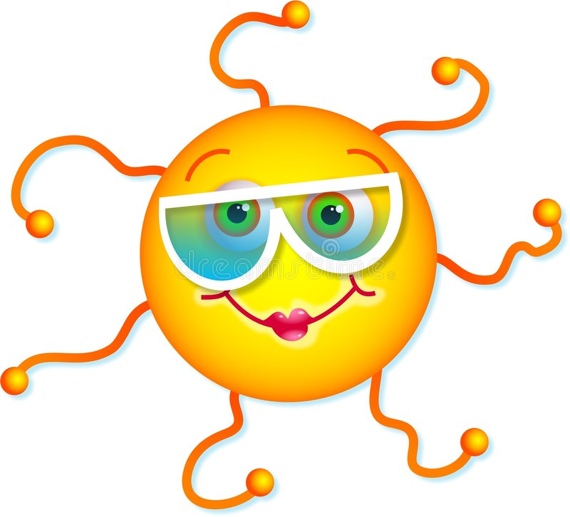 χαριτωμένος ήλιος διανυσματική απεικόνιση