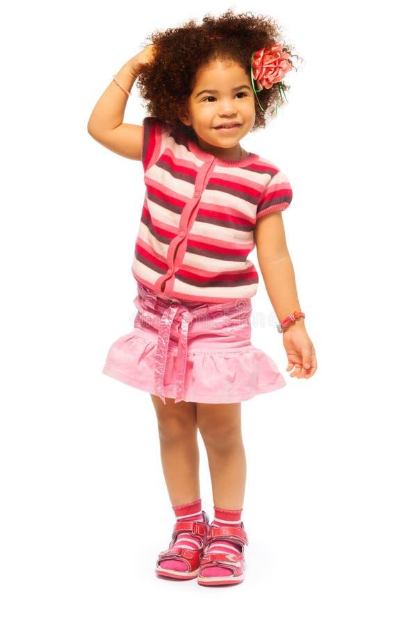 Όμορφο χρονών μαύρο κορίτσι 5 στοκ εικόνα με δικαίωμα ελεύθερης χρήσης