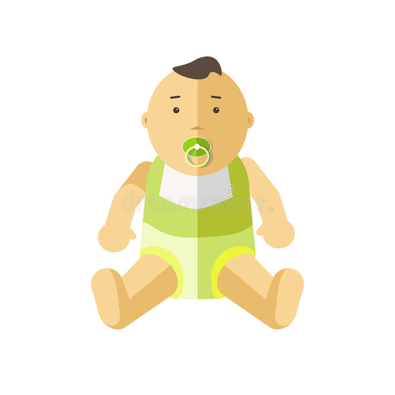 Χαριτωμένος λίγο μωρό 0-12 μήνες ελεύθερη απεικόνιση δικαιώματος