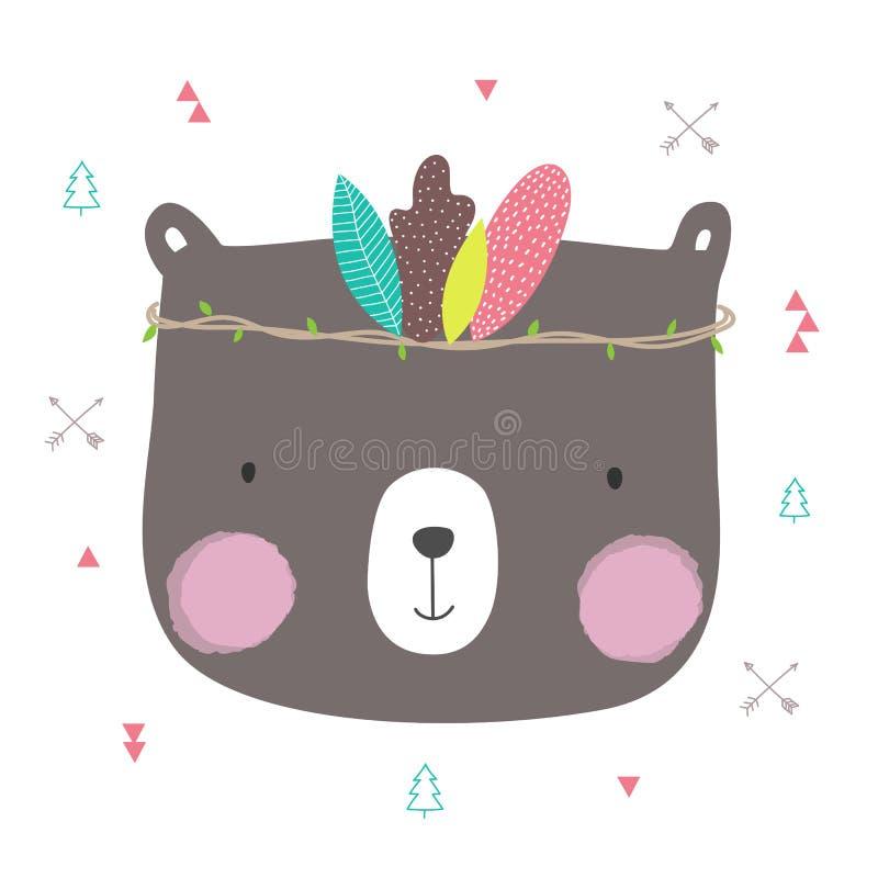 Χαριτωμένος αντέξτε το boho-κομψό ύφος για το παιδί απεικόνιση αποθεμάτων