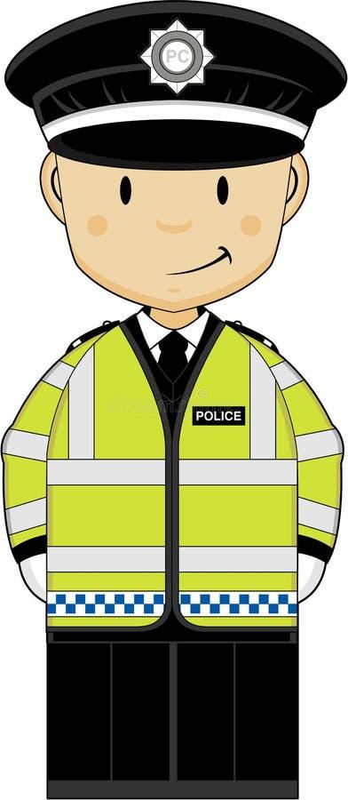 χαριτωμένος αστυνομικός ελεύθερη απεικόνιση δικαιώματος