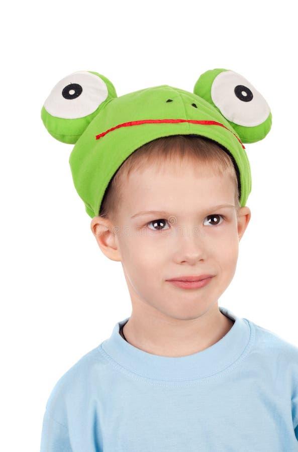 χαριτωμένος βάτραχος λίγ&alph στοκ εικόνες
