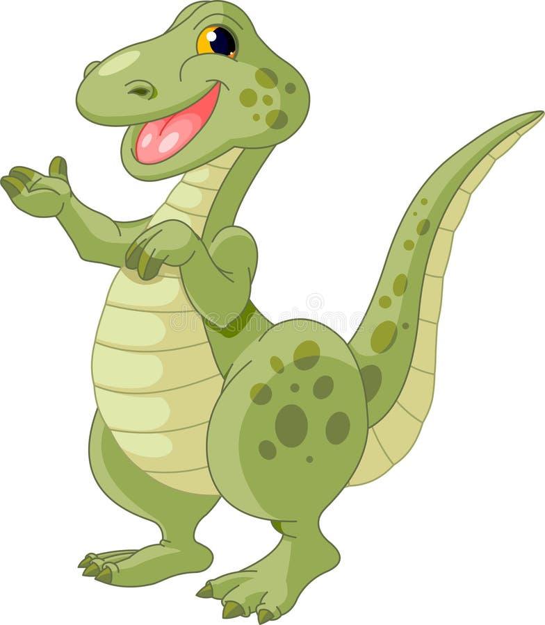χαριτωμένος δεινόσαυρο&sig απεικόνιση αποθεμάτων