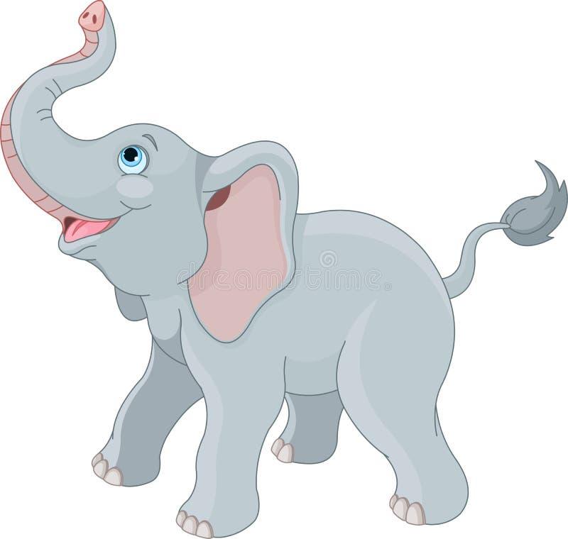 Χαριτωμένος ελέφαντας ελεύθερη απεικόνιση δικαιώματος
