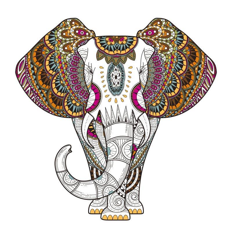 Χαριτωμένος ελέφαντας διανυσματική απεικόνιση