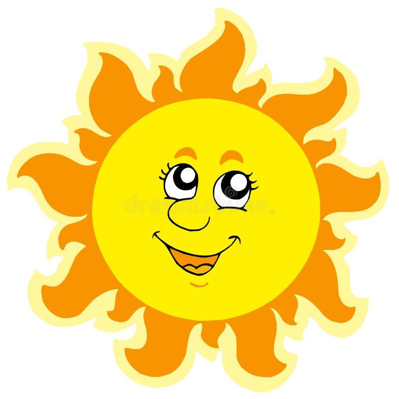 χαριτωμένος θερινός ήλιο&si απεικόνιση αποθεμάτων
