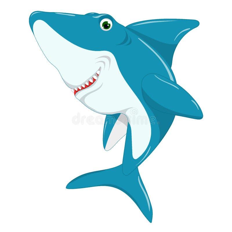 Χαριτωμένος καρχαρίας, απεικόνιση μωρών στοκ εικόνες με δικαίωμα ελεύθερης χρήσης