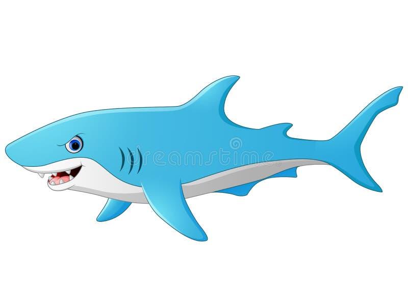 Χαριτωμένος καρχαρίας κινούμενων σχεδίων διανυσματική απεικόνιση