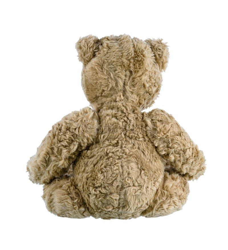Χαριτωμένος καφετής teddy αφορά απομονωμένος το άσπρο υπόβαθρο στοκ εικόνες