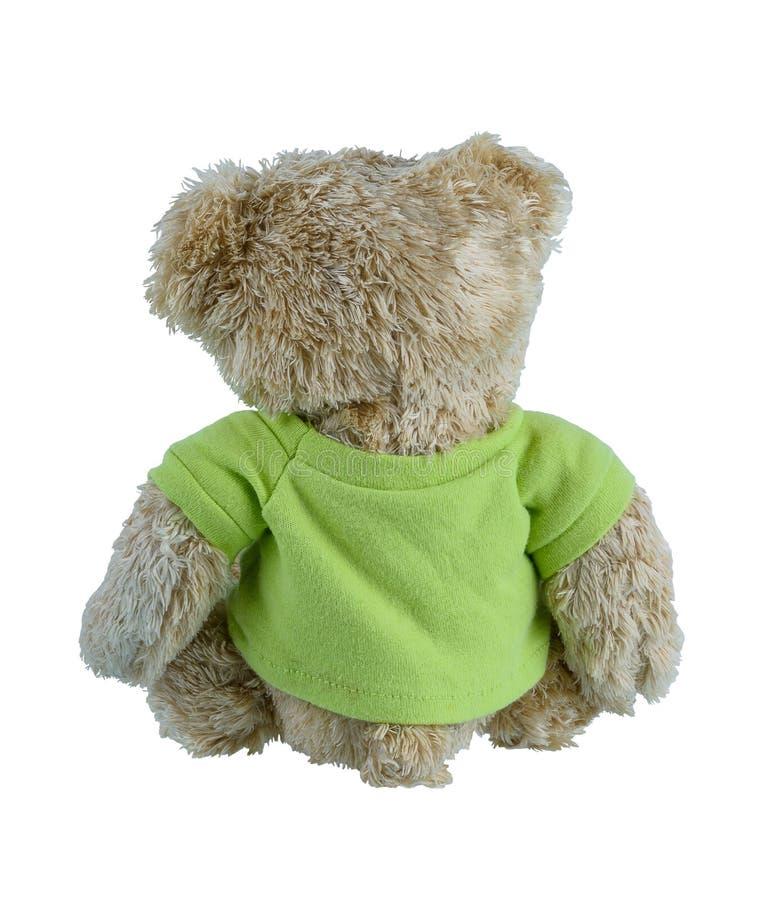Χαριτωμένος καφετής teddy αφορά απομονωμένος το άσπρο υπόβαθρο στοκ εικόνα