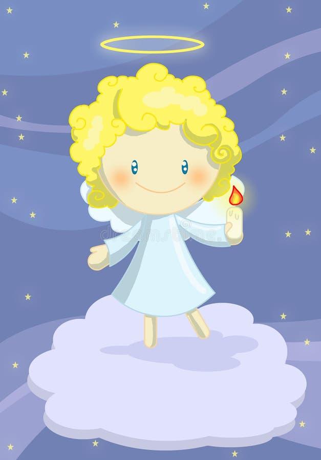 Χαριτωμένος λίγο αγόρι αγγέλου διανυσματική απεικόνιση