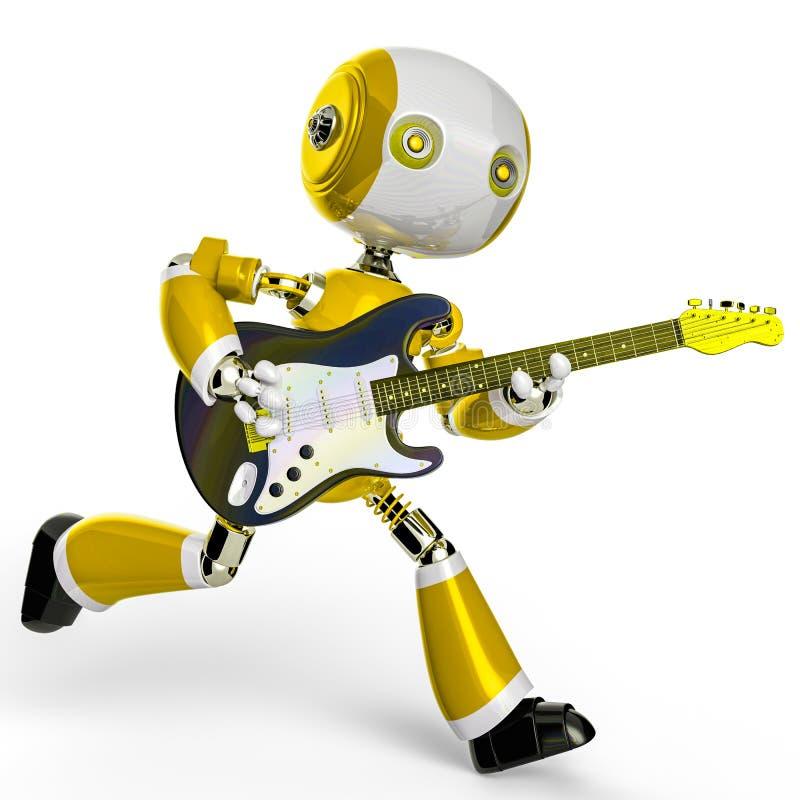 Χαριτωμένος λίγο ρομπότ σε ένα άσπρο υπόβαθρο απεικόνιση αποθεμάτων