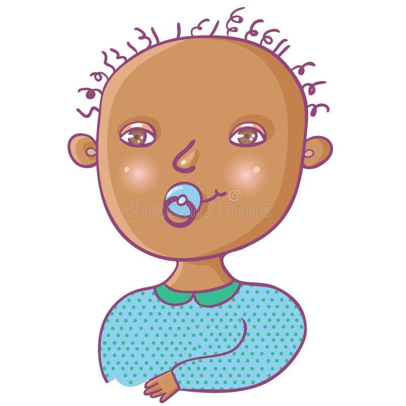 χαριτωμένος νεογέννητος &a απεικόνιση αποθεμάτων