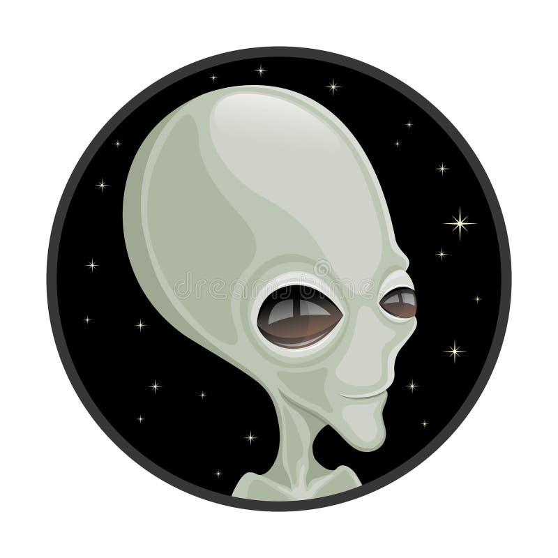 Χαριτωμένος πράσινος αλλοδαπός εξωγήινος διανυσματική απεικόνιση