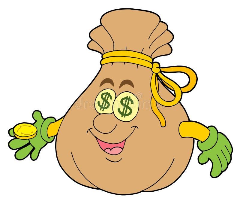 χαριτωμένος σάκος χρημάτων απεικόνιση αποθεμάτων