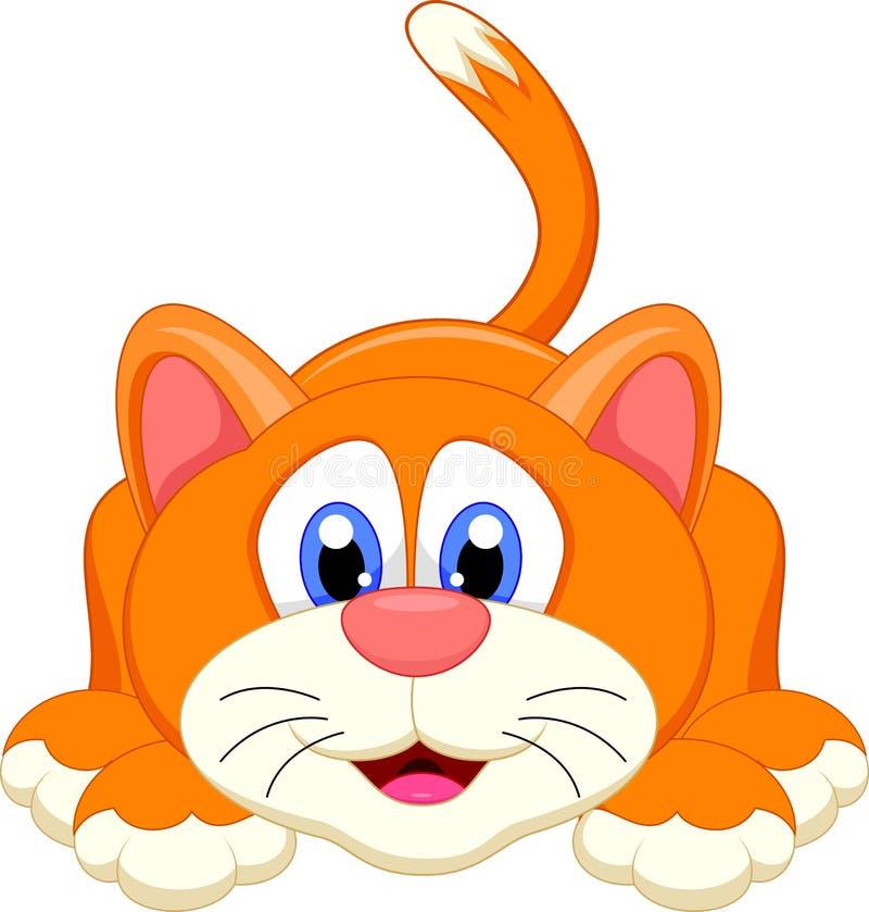 Χαριτωμένος χαρακτήρας κινουμένων σχεδίων γατών στοκ φωτογραφία με δικαίωμα ελεύθερης χρήσης