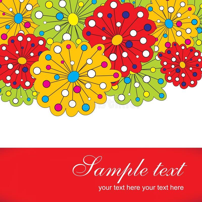 χαριτωμένος floral ανασκόπηση&sigmaf διανυσματική απεικόνιση